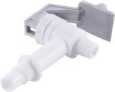 White cold/warm water valve
