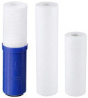 Polypropylene spun and carbon cartridges